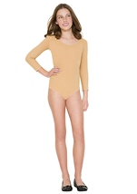 Girls Bodysuit Tan