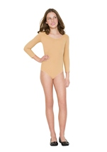 Adult Girls Bodysuit Tan