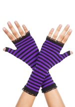 Opaque Stripes Warmer Black And Purple