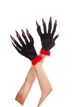 Devil Gloves With Nails Black