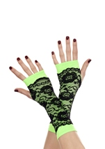 Lace Overlay Arm Warmer Neon Green