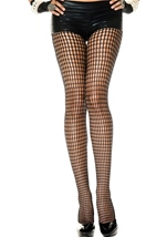 Crochet Design Spandex Pantyhose Black