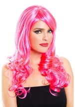 Pink Woman Wig
