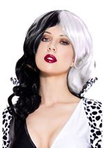 Two Tone Black And White Wig
