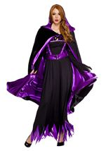 Reversible Hooded Cape Black And Purple