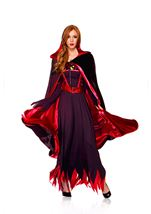 Reversible Hooded Cape Black And Red