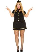 Mile High Club Stewardess Woman Plus Costume