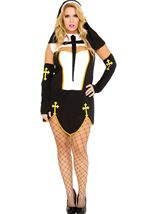 Bad Habit Nun Woman Plus Costume