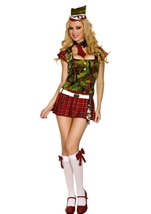 Camo Tartan Recruit Woman Costume