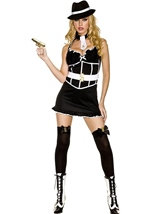 Nightie Gangster Woman Costume