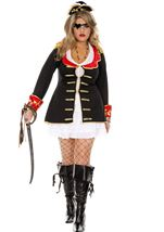 Cute Captain Plus Woman Costume
