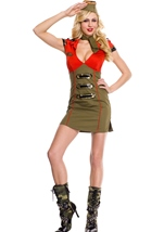 Snappy Lady Army Woman Costume