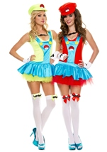Red Playful Plumber Woman Costume
