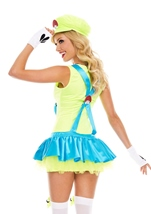 Adult Green Playful Plumber Woman Costume