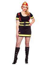 Plus Size Fire Hazard Honey Woman Costume
