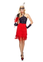 Fiery Flapper Woman Costume