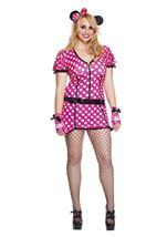 Adult Mouse Polka Dot Woman Plus Costume