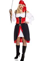 Adult Jewel Of Night Woman Pirate Plus Costume