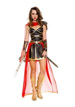 Dark Greek Warrior Woman Costume