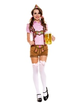 Lederhosen Beer Babe Woman Costume
