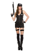 Sultry Swat Woman Costume