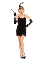 Stunning Black Flapper Woman Costume