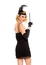 Adult Stunning Black Flapper Woman Costume