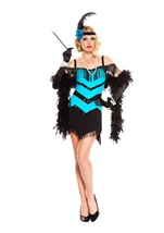 Seductive Flapper Woman Costume