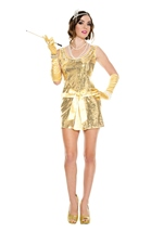 Vintage Glam Hottie Woman Costume
