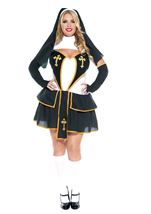 Flirty Nun Woman Plus Costume