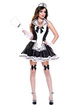 Adult Elegant French Maid Plus Size Woman Costume