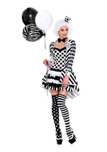 Circus Damned Woman Clown Costume