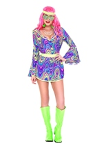 Shake Your Groove Hippie Woman Costume
