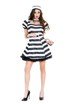 Adult Attractive Convict Woman Costume