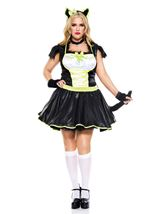 PLus Size Furry Cats Meow Women Costume