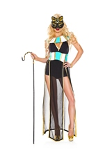 Elegant Egyptian Bastet Woman Costume