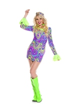 Psychedelic Hippie Chick Woman Costume