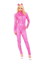 Pink Cheetah Woman Costume