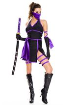 Purple Ninja Woman Costume