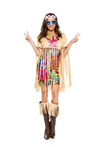 Retro Hipster Woman Costume