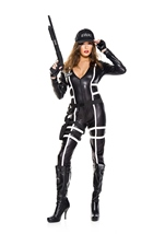 Swat Agent Woman Costume