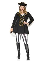 Plus Size High Class Pirate Women Costume