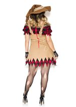 Adult  Plus Size Living Scarecrow Woman Costume