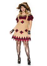 Plus Size Living Scarecrow Woman Costume