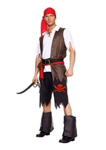 Adult Buccaneer Pirate Men Costume