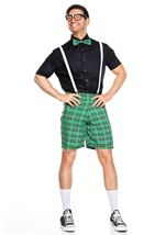 Classroom Nerd Men Costume Black and Green