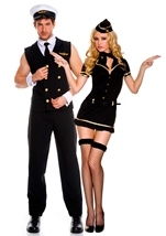 Airline Pilot Men Costume Black