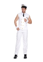 Airline Pilot Men Costume White