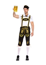 Adult German Beer Men Costume Black