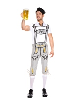 German Beer Men Costume Gray